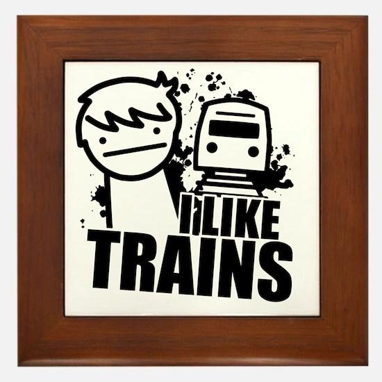 I Like Trains! Framed Tile