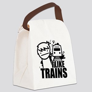 I Like Trains! Canvas Lunch Bag