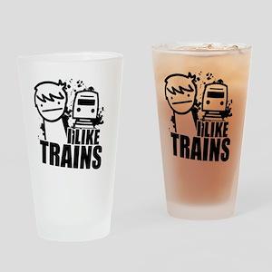 I Like Trains! Drinking Glass
