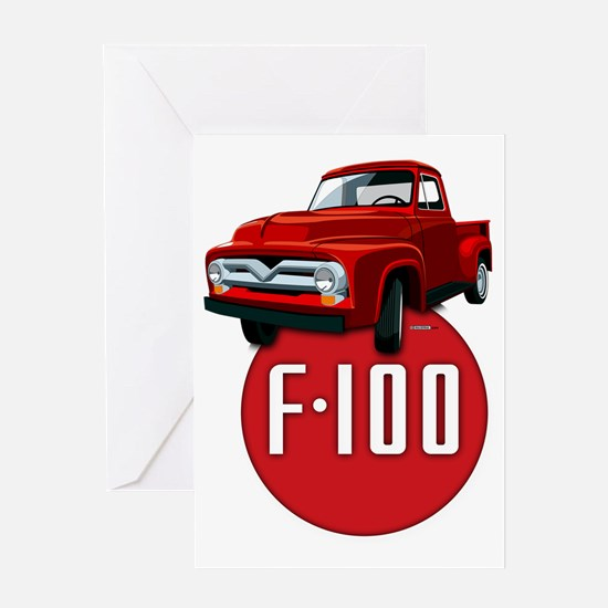 Second generation Ford F-100 Greeting Card