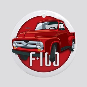 Second generation Ford F-100 Round Ornament