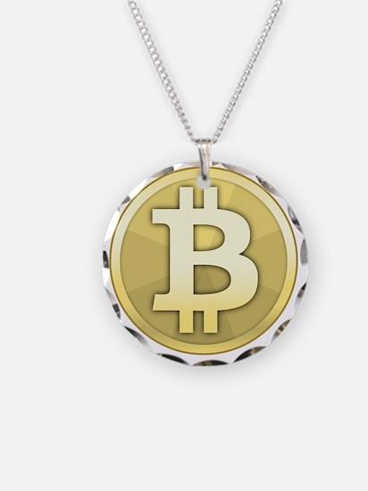 Bitcoin Coin Necklace