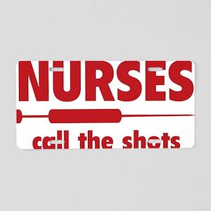 nurseShots1D Aluminum License Plate