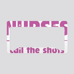 nurseShots1E License Plate Holder