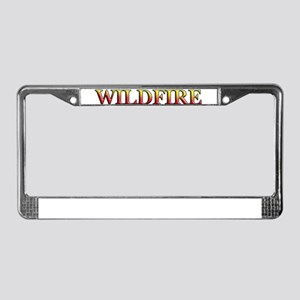 Wildfire License Plate Frame