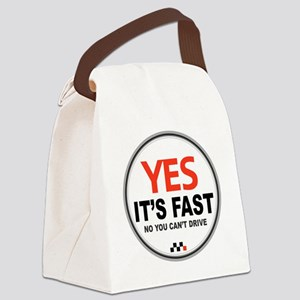 Yes Its Fast Canvas Lunch Bag