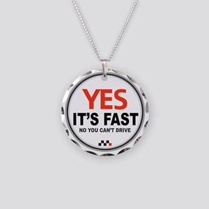 Yes Its Fast Necklace Circle Charm