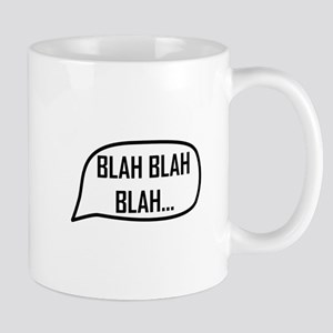 Word Bubble Blah Mugs