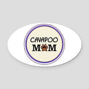 Cavapoo Dog Mom Oval Car Magnet