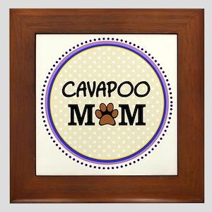 Cavapoo Dog Mom Framed Tile