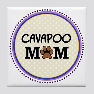 Cavapoo Dog Mom Tile Coaster