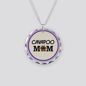 Cavapoo Dog Mom Necklace Circle Charm