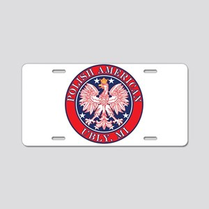 Ubly Michigan Polish Aluminum License Plate