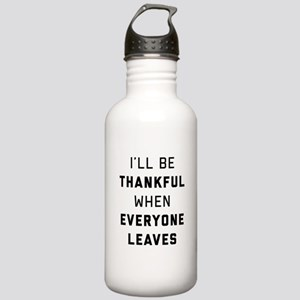 I'll Be Thankful When Stainless Water Bottle 1.0L