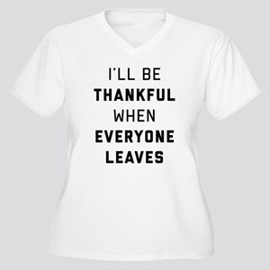 I'll Be Thankful Women's Plus Size V-Neck T-Shirt