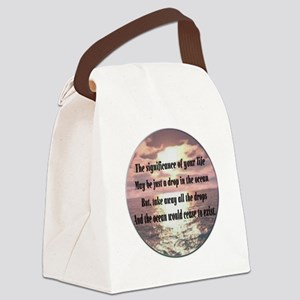 A drop in the ocean Canvas Lunch Bag