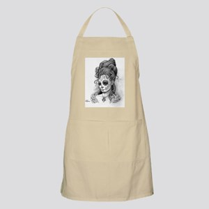 Maroon Dia de los Muertos pillow case right Apron