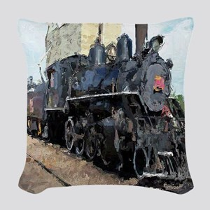 Steam Engine Woven Throw Pillow