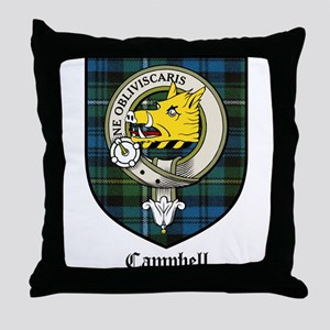 Campbell Clan Crest Tartan Throw Pillow
