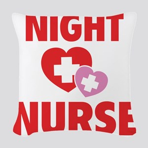 nightNurse1C Woven Throw Pillow