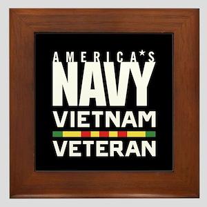 America's Navy Vietnam Veteran Framed Tile