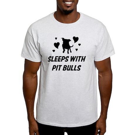 sleeps with pit bulls hearts Light T-Shirt