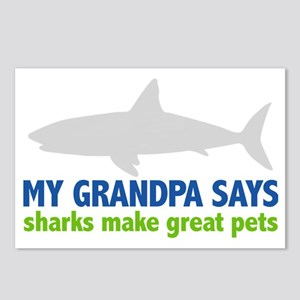 My Grandpa Says sharks ma Postcards (Package of 8)