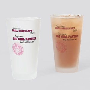 Advice from a Drill Sergeants Wife Drinking Glass