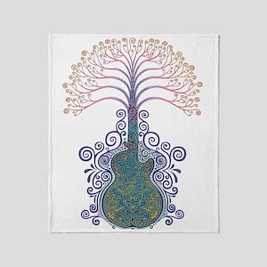 dod-guit-tree-T Throw Blanket
