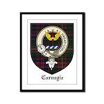 Carnegie Clan Crest Tartan Framed Panel Print