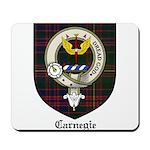 Carnegie Clan Crest Tartan Mousepad