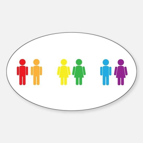 Love is Love Sticker (Oval)
