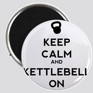 Keep Calm and Kettlebell On Magnet