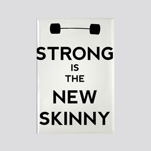 Strong is the New Skinny - Bar Rectangle Magnet