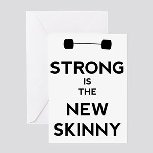 Strong is the New Skinny - Bar Greeting Card