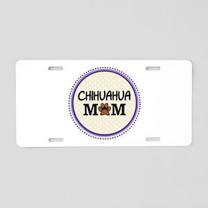 Chihuahua Dog Mom Aluminum License Plate