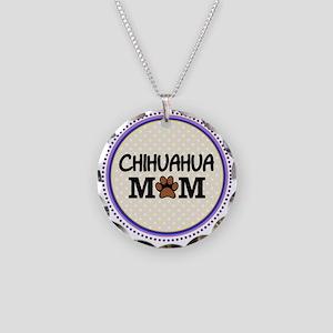Chihuahua Dog Mom Necklace Circle Charm