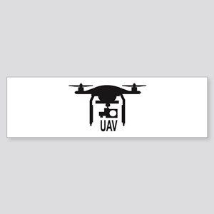 UAV Drone Silhouette Bumper Sticker