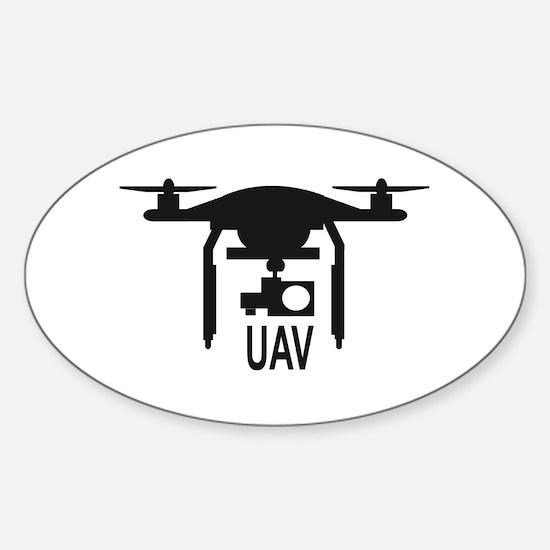 UAV Drone Silhouette Decal