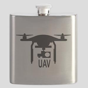 UAV Drone Silhouette Flask