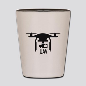 UAV Drone Silhouette Shot Glass