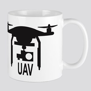 UAV Drone Silhouette Mugs