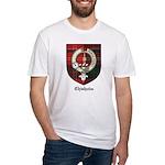 Chisholm Clan Crest Tartan Fitted T-Shirt