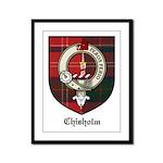 Chisholm Clan Crest Tartan Framed Panel Print