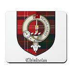 Chisholm Clan Crest Tartan Mousepad