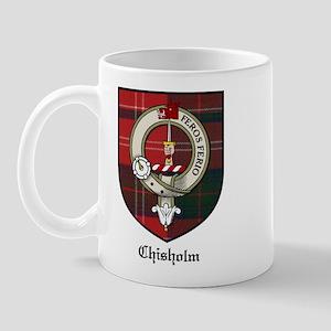 Chisholm Clan Crest Tartan Mug