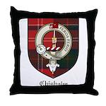 Chisholm Clan Crest Tartan Throw Pillow