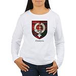 Chisholm Clan Crest Tartan Women's Long Sleeve T-S