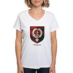 Chisholm Clan Crest Tartan Women's V-Neck T-Shirt