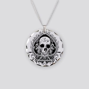 AceSkull Necklace Circle Charm